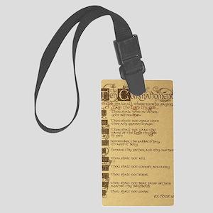 ten commandments Large Luggage Tag