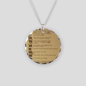 ten commandments Necklace Circle Charm