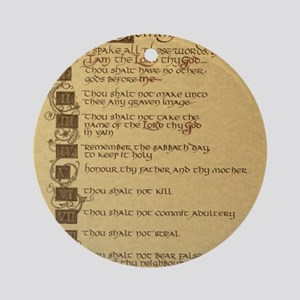 ten commandments Round Ornament