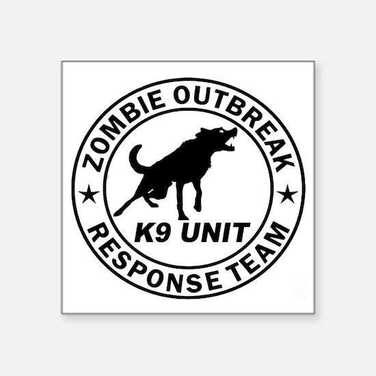 """Unique Zombie response Square Sticker 3"""" x 3"""""""
