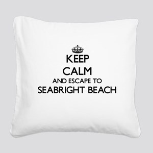 Keep calm and escape to Seabr Square Canvas Pillow