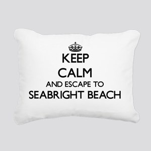 Keep calm and escape to Rectangular Canvas Pillow