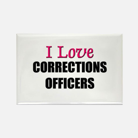 I Love CORRECTIONS OFFICERS Rectangle Magnet