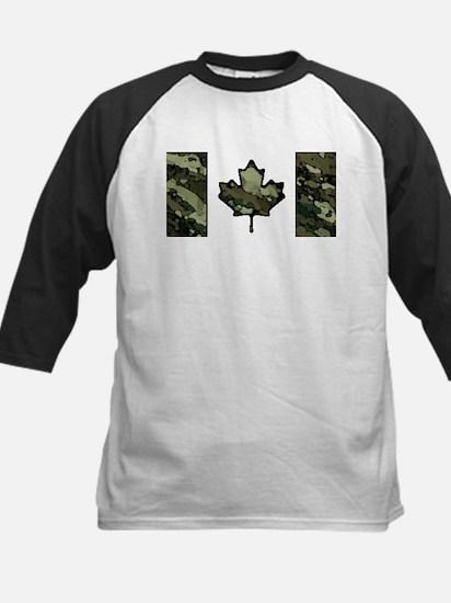 Canadian Flag Camo Woodland Brush Baseball Jersey