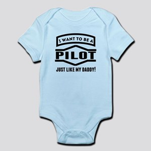 Pilot Just Like My Daddy Body Suit