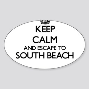 Keep calm and escape to South Beach Califo Sticker