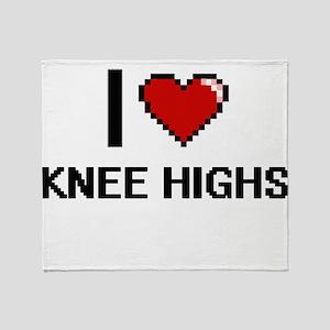 I Love Knee Highs Throw Blanket