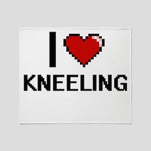 I Love Kneeling Throw Blanket