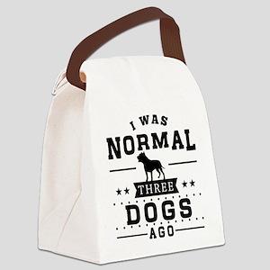 I Was Normal Three Dog Ago Canvas Lunch Bag