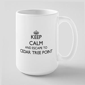 Keep calm and escape to Cedar Tree Point Rhod Mugs