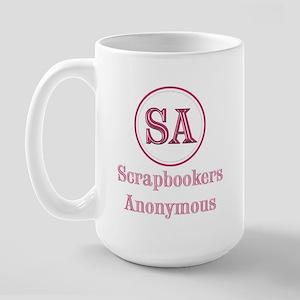 Scrapbookers Anonymous Large Mug