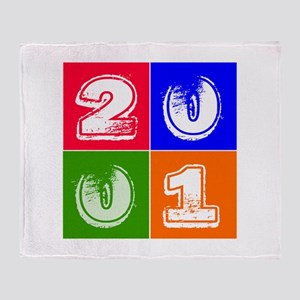 2001 Birthday Designs Throw Blanket
