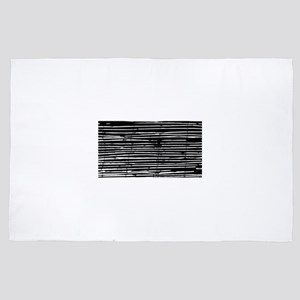 Black and White Bamboo 4' x 6' Rug