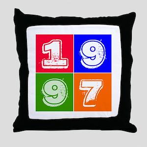 1997 Birthday Designs Throw Pillow