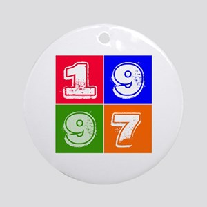 1997 Birthday Designs Ornament (Round)