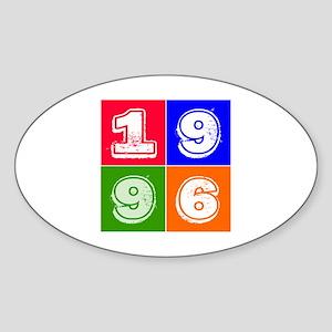 1996 Birthday Designs Sticker (Oval)