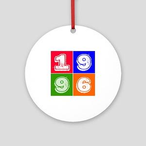 1996 Birthday Designs Ornament (Round)