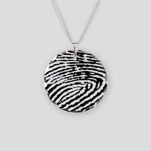 Fingerprints Necklace Circle Charm