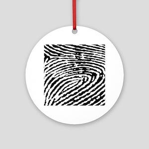 Fingerprints Ornament (Round)