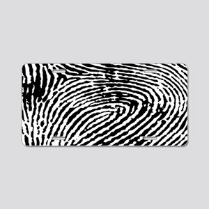 Fingerprints Aluminum License Plate
