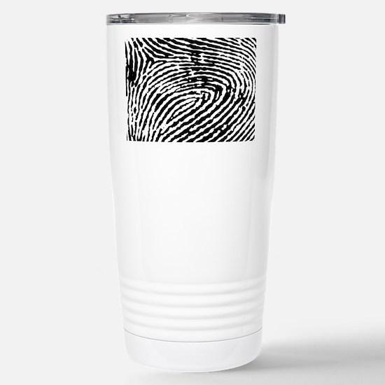 Fingerprints Stainless Steel Travel Mug
