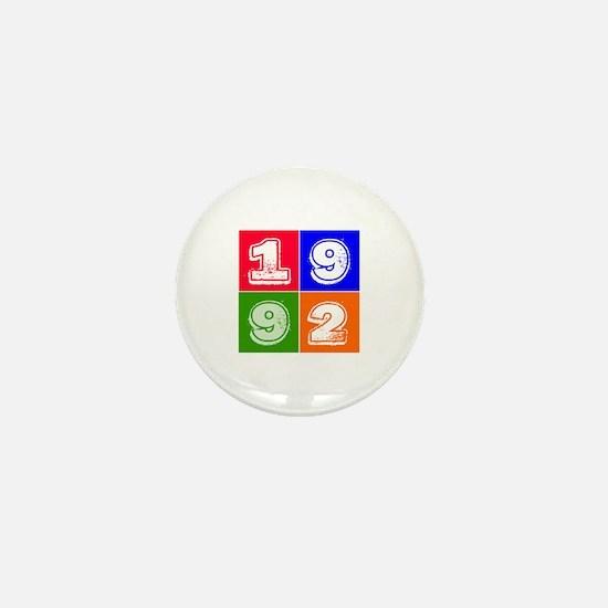 1992 Birthday Designs Mini Button