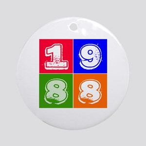 1988 Birthday Designs Ornament (Round)