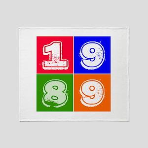 1989 Birthday Designs Throw Blanket