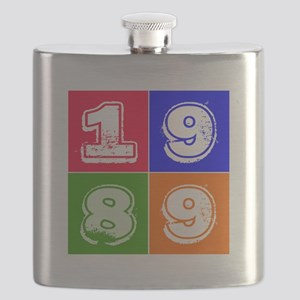 1989 Birthday Designs Flask