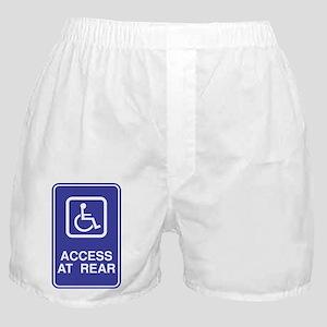 Access At Rear Handicapped Si Boxer Shorts