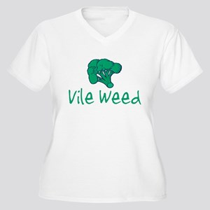Vile Weed Women's Plus Size V-Neck T-Shirt