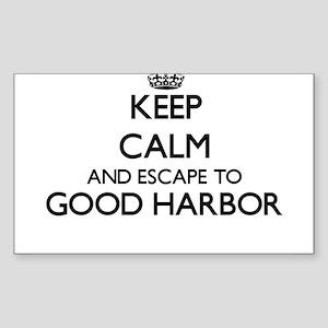 Keep calm and escape to Good Harbor Massac Sticker