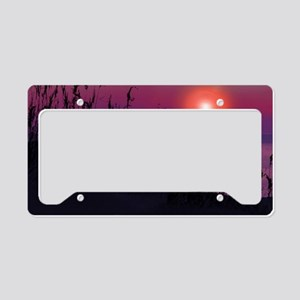 Sunrise on the Great Lakes License Plate Holder