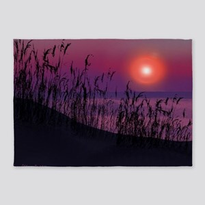 Sunrise on the Great Lakes 5'x7'Area Rug