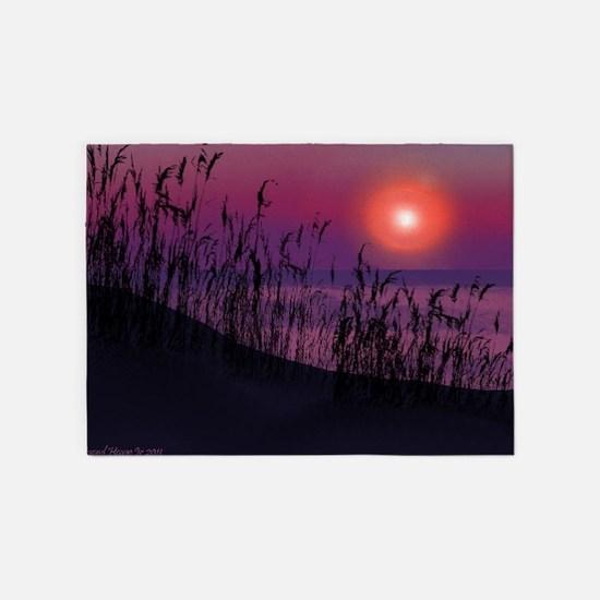 Sunrise on the Great Lakes 5'x7'Area Rug