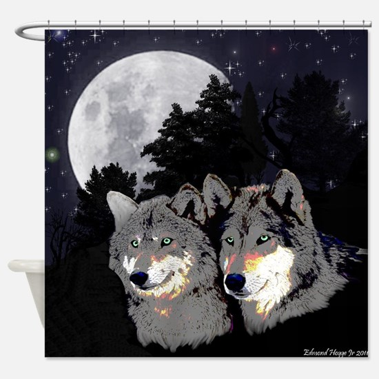 Rocky Mountain Wolves Shower Curtain