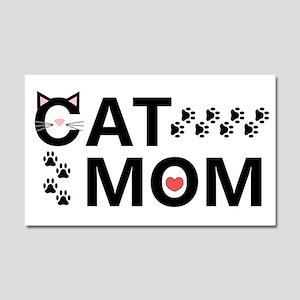 Cat Mom Car Magnet 20 x 12