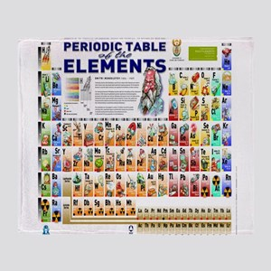 Periodic table blankets cafepress periodic table of elements throw blanket urtaz Image collections