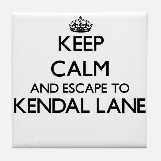 Keep calm and escape to Kendal Lane M Tile Coaster