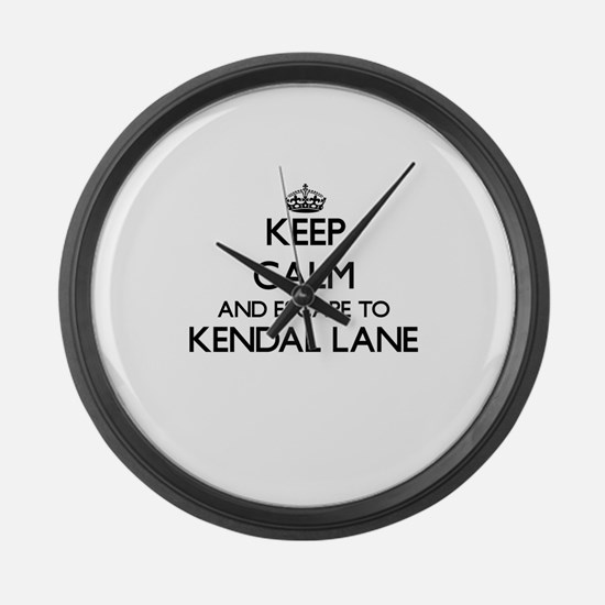 Keep calm and escape to Kendal La Large Wall Clock