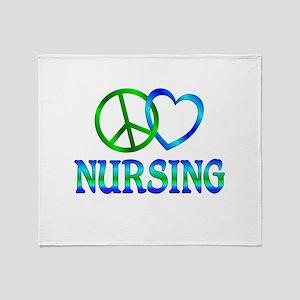 Peace Love Nursing Throw Blanket