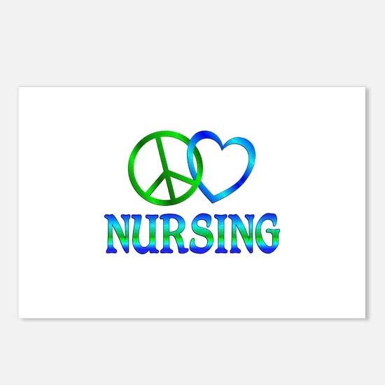 Peace Love Nursing Postcards (Package of 8)