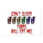 Can't Sleep! Tubas Will E Postcards (Package of 8)