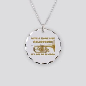 With a Name Like Mellophone. Necklace Circle Charm