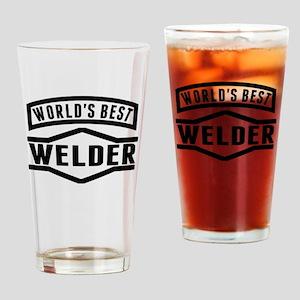 Worlds Best Welder Drinking Glass