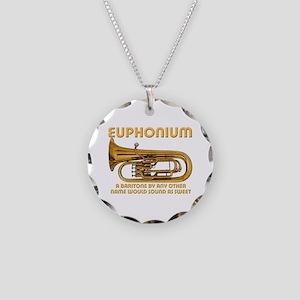 Euphonium Necklace Circle Charm