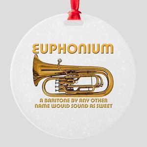 Euphonium Round Ornament