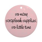 Scrapbook Supplies Ornament (Round)