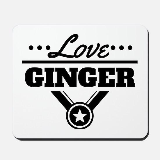 Love Ginger Mousepad