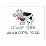 Croppin' Cows Small Poster